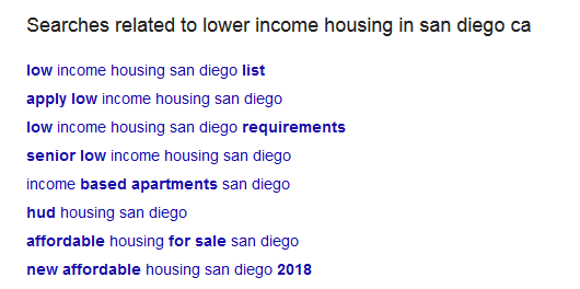 san diego related searches for housing